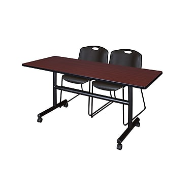 Regency Kobe 60'' Rectangular Training Table and Chairs with Zeng Chairs