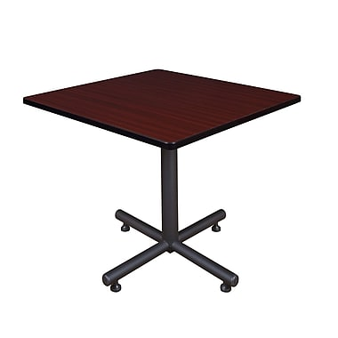 Regency Square Laminate Table with 4 Restaurant Stack Chairs, TKB3636BE29