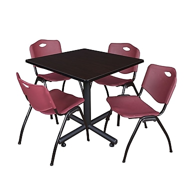 Regency Square Laminate Table Maple With 4 M Stacker Chairs, TKB4242PL47BE