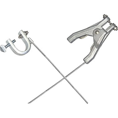 Lind Equipment Heavy-Duty Bonding and Grounding Wire Assemblies - Hand Clamps and Small C-Clamps