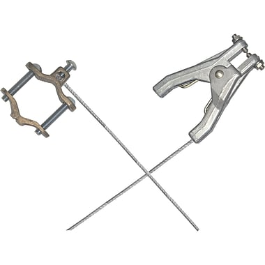 Lind Equipment Heavy-Duty Bonding and Grounding Wire Assemblies - Hand Clamp with Pipe Clamps (adjusts 1/2