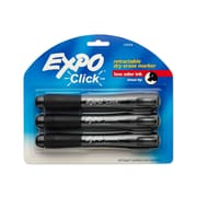 Expo® Click Retractable Chisel Tip Dry-Erase Markers