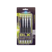 uni-ball Jetstream RT BLX Retractable Rollerball Pens, Bold Point, Assorted Colors, Assorted Pack Sizes