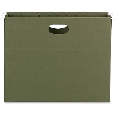 Smead Full-Height Sides Recycled Hanging Pockets, Green, 10/Box