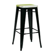 OSP Designs Antique Black Metal & Wood Barstool, BRW31303A2C301