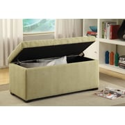 Ave Six Sahara Tufted Cotton & Linen Storage Bench
