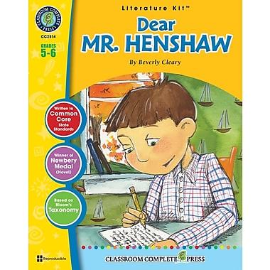 Dear Mr. Henshaw Literature Kit, Grade 5-6, ISBN 978-1-55319-447-7