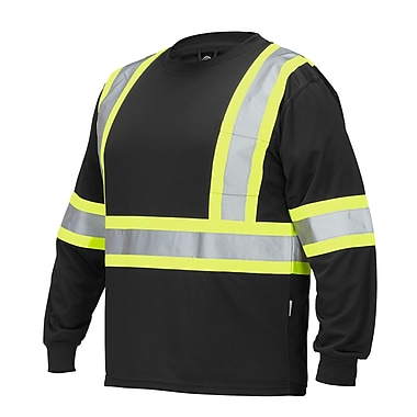 Forcefield Long Sleeve Safety Tee, Black