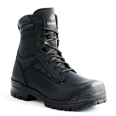 Terra – Chaussures de travail de 8 po Omaha pour hommes, noir