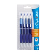 Paper Mate Retractable Gel Pens, Medium, Blue, 4/Pack
