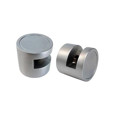 Futech Edge Grip for Wall Mount Sign Holder 3cm x 2-4/5cm, Aluminum Finish, 2/pack