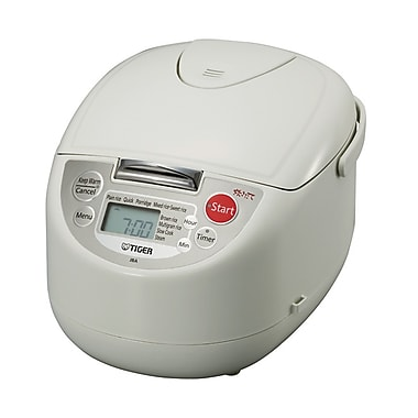 Tiger 4-in-1 Microcomputer Controlled Rice Cookers with 9 Computerized Menu