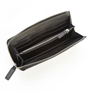 Royce Leather RFID Blocking Fan Wallet in Saffiano Leather