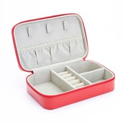 Royce Leather Zippered Travel Jewelry Case in Genuine Leather