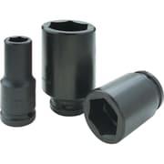 Gray Tools 6 Point Deep Length, Black Impact Sockets