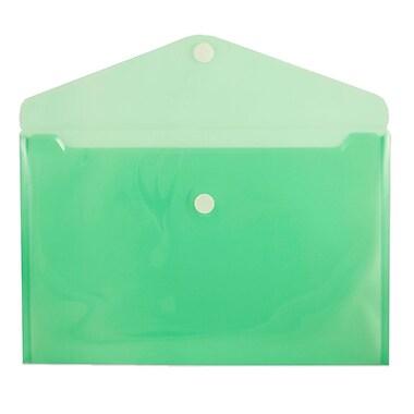 JamMD – Enveloppe en plastic de style livret à fermeture de Velcro, 9 3/4 x 11 1/2 po