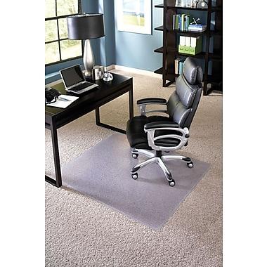 ES Robbins – Sous-chaise rectangulaire, 46 x 60 po, transparent