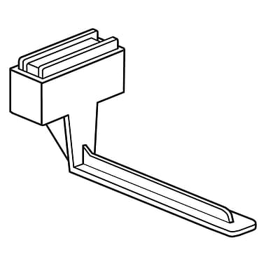 FFR Merchandising Magnetic Under-Shelf Mount Bracket, L-Style, 6/Pack