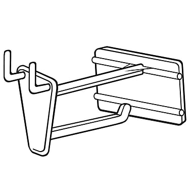 FFR Merchandising PHS Pegboard/Slatwall Hook with Scan Plate, 50/Pack