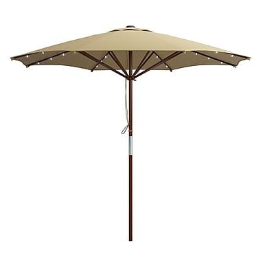 CorLiving PZT-724-U Patio Umbrellas with Solar Power LED Lights