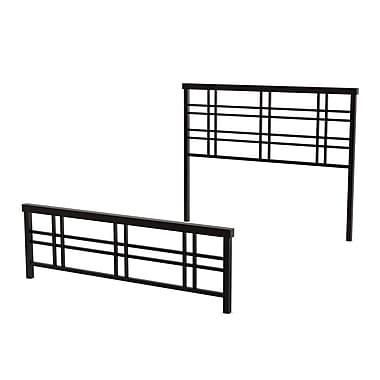 Amisco – Tête et pied de lit double Heritage de 54 po en métal