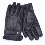 Royce Leather - Gants tactiles en peau de mouton pour hommes, noir