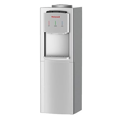 Honeywell 40-Inch Hot, Room and Cold Temperature Freestanding Water Cooler Dispenser, White or Silver