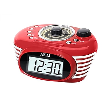 Akai Retro Black Alarm Clock Radios