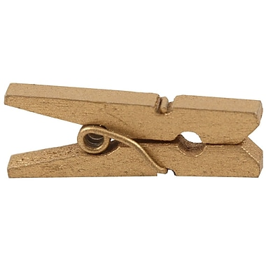 JAM Paper® Small Wood Clothing Pin, 7/8