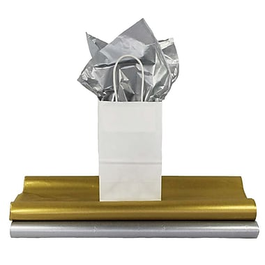 B2B Wraps - Papier de soie métallique, 20 x 30 po, paq./100 feuilles