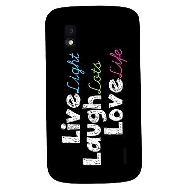 Exian – Étuis « Live, Laugh, Love » pour Nexus 4
