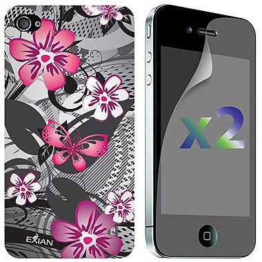 Exian iPhone 4/4s Screen Guards x2 & TPU Cases