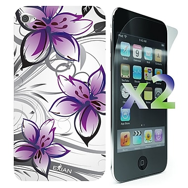 Exian Cases for iPod Touch 4, Floral Pattern