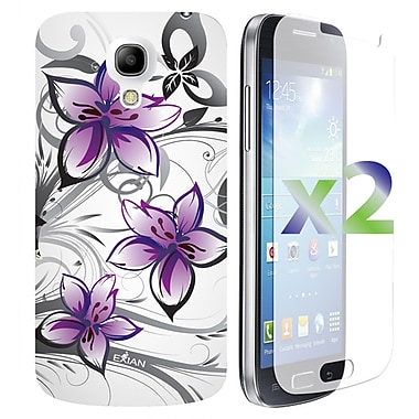 Exian Cases for Galaxy S4 Mini, Floral Pattern