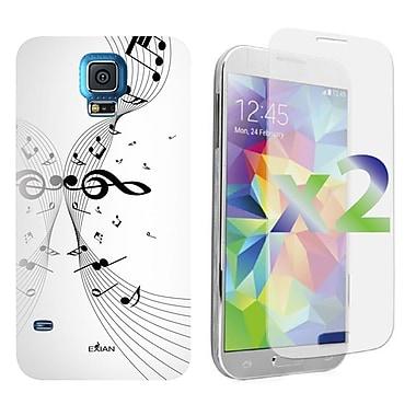 Exian – Étuis avec notes de musique pour Galaxy S5