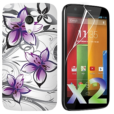 Exian Cases for Moto G, Floral Pattern