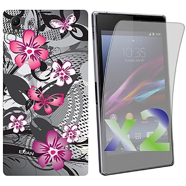 Exian Cases for Xperia Z1, Floral Pattern