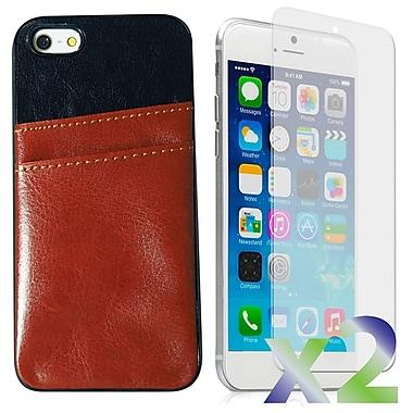 Exian – Étuis en cuire avec une fente à cartes pour iPhone 6 Plus