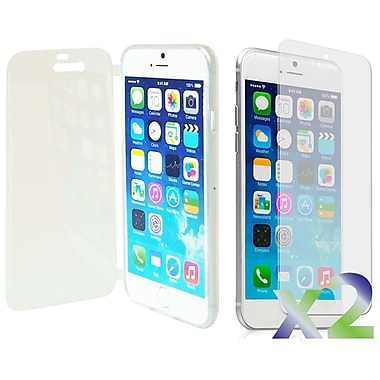 Exian Cases for iPhone 6 Plus, Transparent with Front Cover