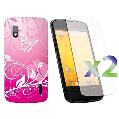 Exian Cases for Nexus 4, Butterflies & Flowers