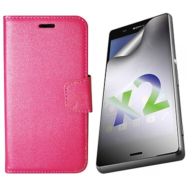 Exian Cases for Xperia Z3, Leather Wallet