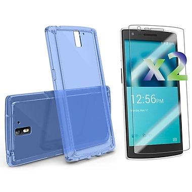 Exian – Étui en polyuréthane thermoplastique (TPU) de couleur transparente et 2 protecteurs d'écran pour One d'OnePlus