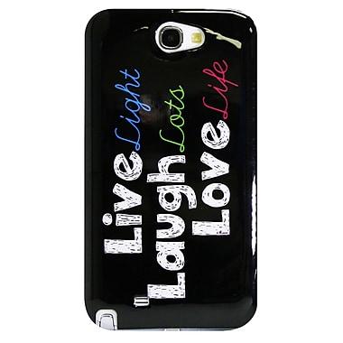 Exian – Étui Vivre, rire, aimer (Live Laugh Love) pour Galaxy Note 2 de Samsung
