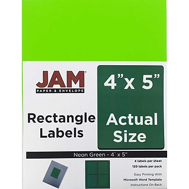 JAM Paper® 4 x 5, Address Labels, 240/ Pack