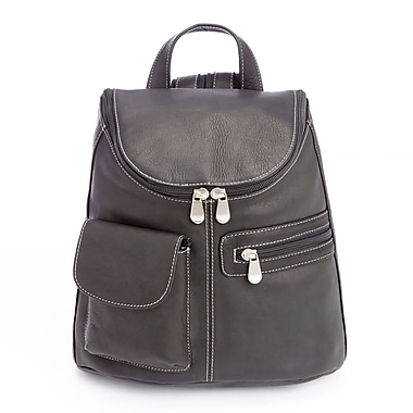 Royce Leather Luxury Tablet iPad Backpack in Handcrafted Colombian Genuine Leather, Black