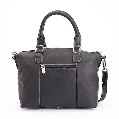 Royce Leather Luxury Travel Weekender Duffel Bag in Handcrafted Colombian Genuine Leather, Black
