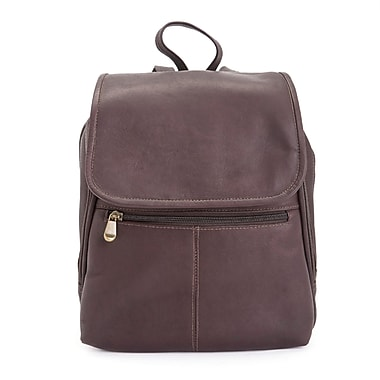 Royce Leather Luxury Tablet iPad Travel Backpack in Handcrafted Colombian Genuine Leather, Cafe