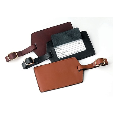 Royce Leather Luxury Travel Luggage Tag in Genuine Leather, Tan