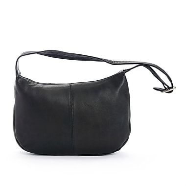 Royce Leather Luxury Women's Shoulder Bag in Handcrafted Colombian Genuine Leather , Black