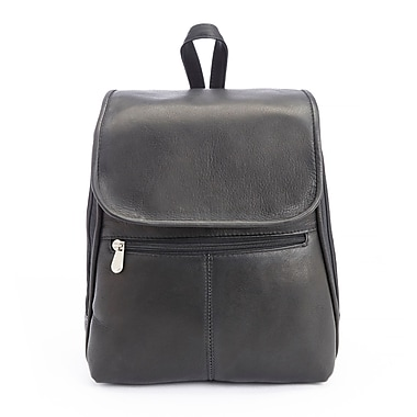 Royce Leather Luxury Tablet iPad Travel Backpack in Handcrafted Colombian Genuine Leather, Black